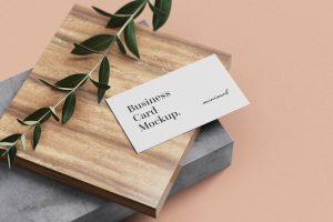 Free Minimal Business Card Mockups