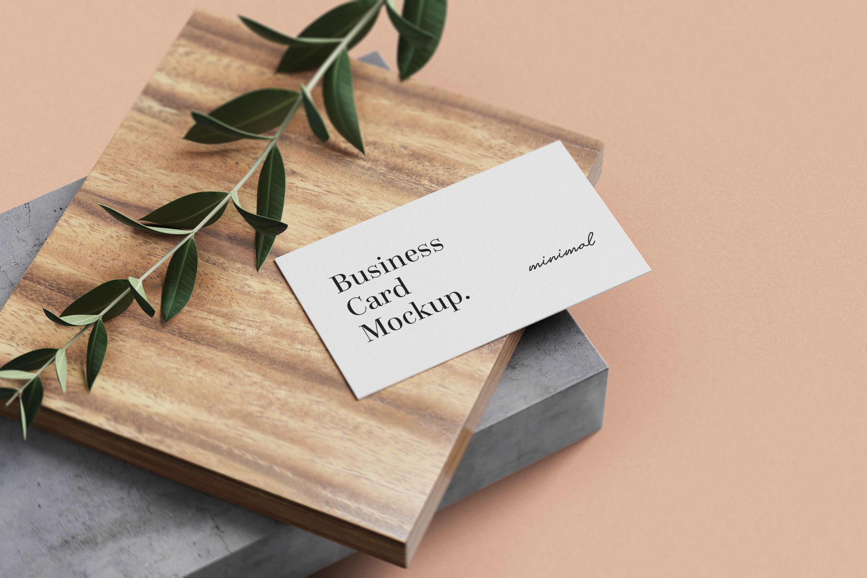 Free Minimal Business Card Mockups