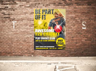 Free Urban Poster Mockup Design PSD Template