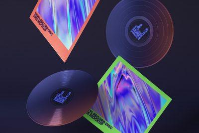 Gravity Vinyl Free PSD Mock-ups