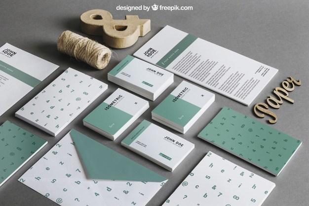 Green Stationery Free PSD Mock-ups