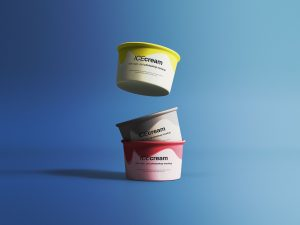 Ice Cream Cups Free Mockup
