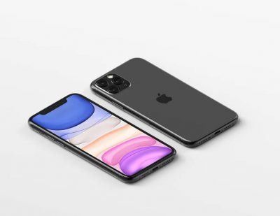 Isometric iPhone 11 Pro Max Free Mockup
