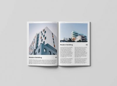 Open Magazine Free PSD Mockup