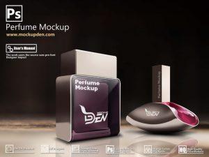 Perfume Mockup Free PSD Template Design