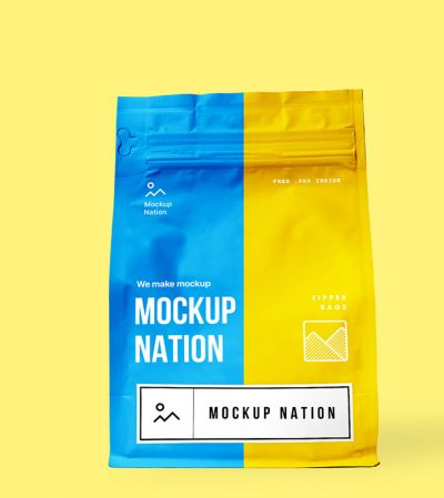 Zipper Bag Free PSD Mock-ups