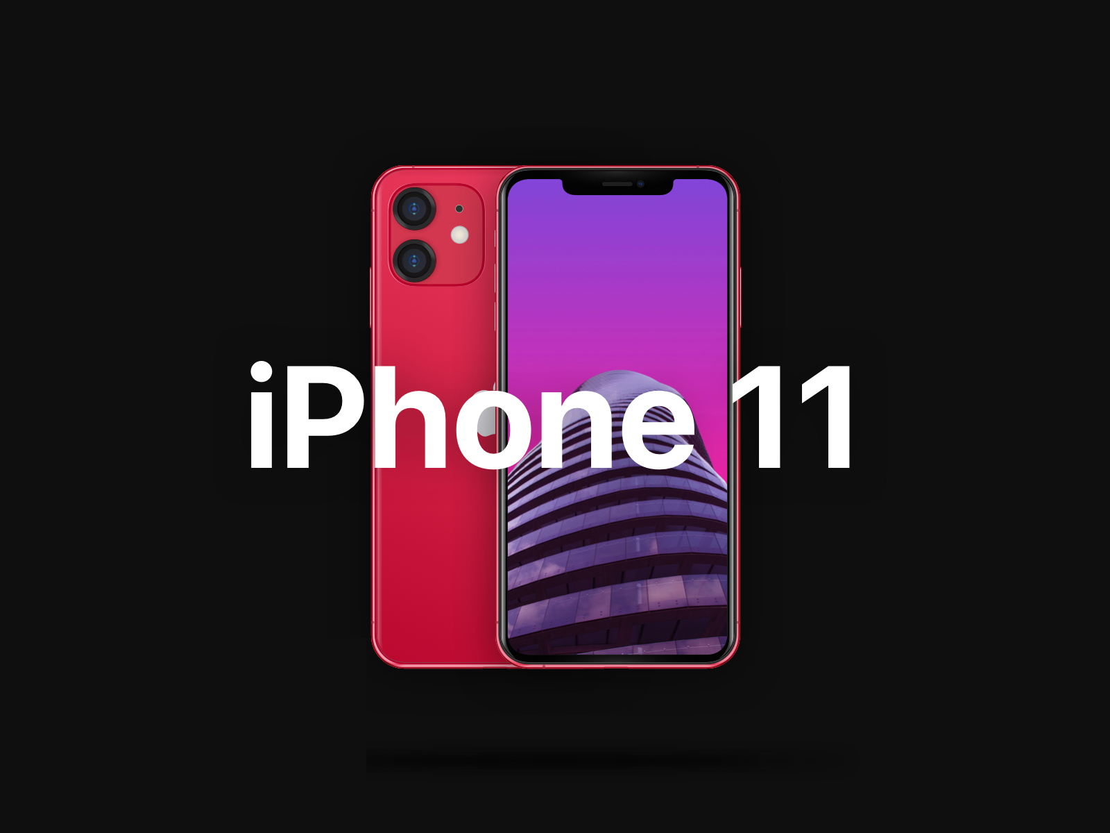 iPhone 11 Free PSD Mockup