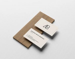 Business Card On Board Free Mockup