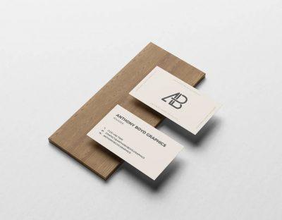 Business Card On Board Free Mockup