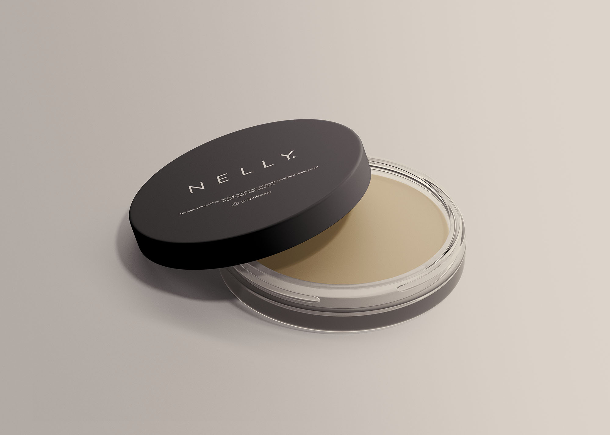 Clear Glass Cosmetic Jar Free Mockup