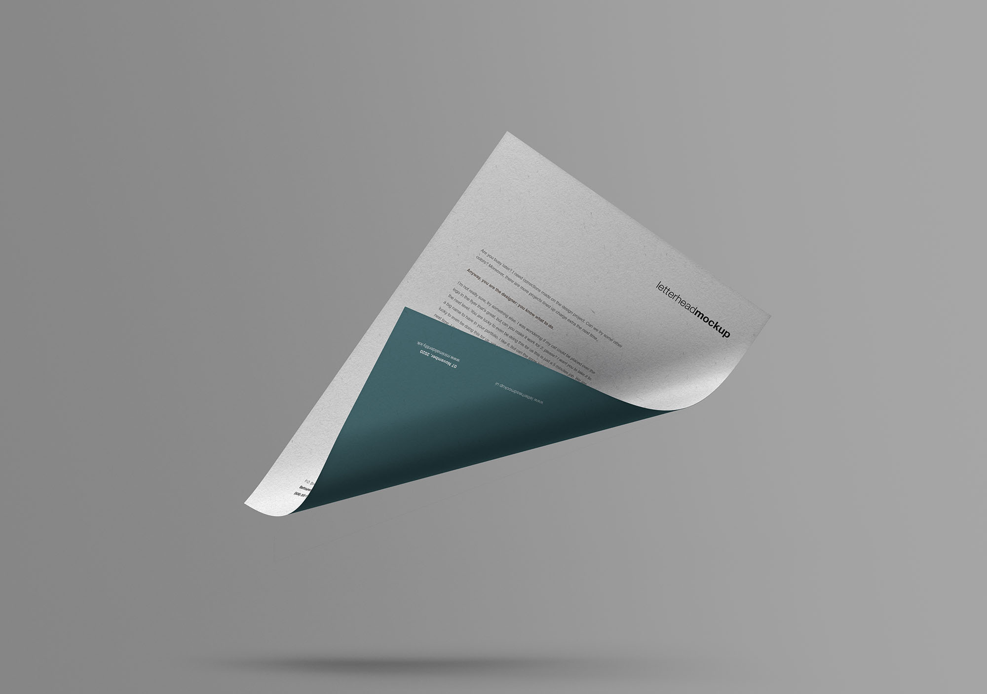 Floating A4 Paper Free Mockup