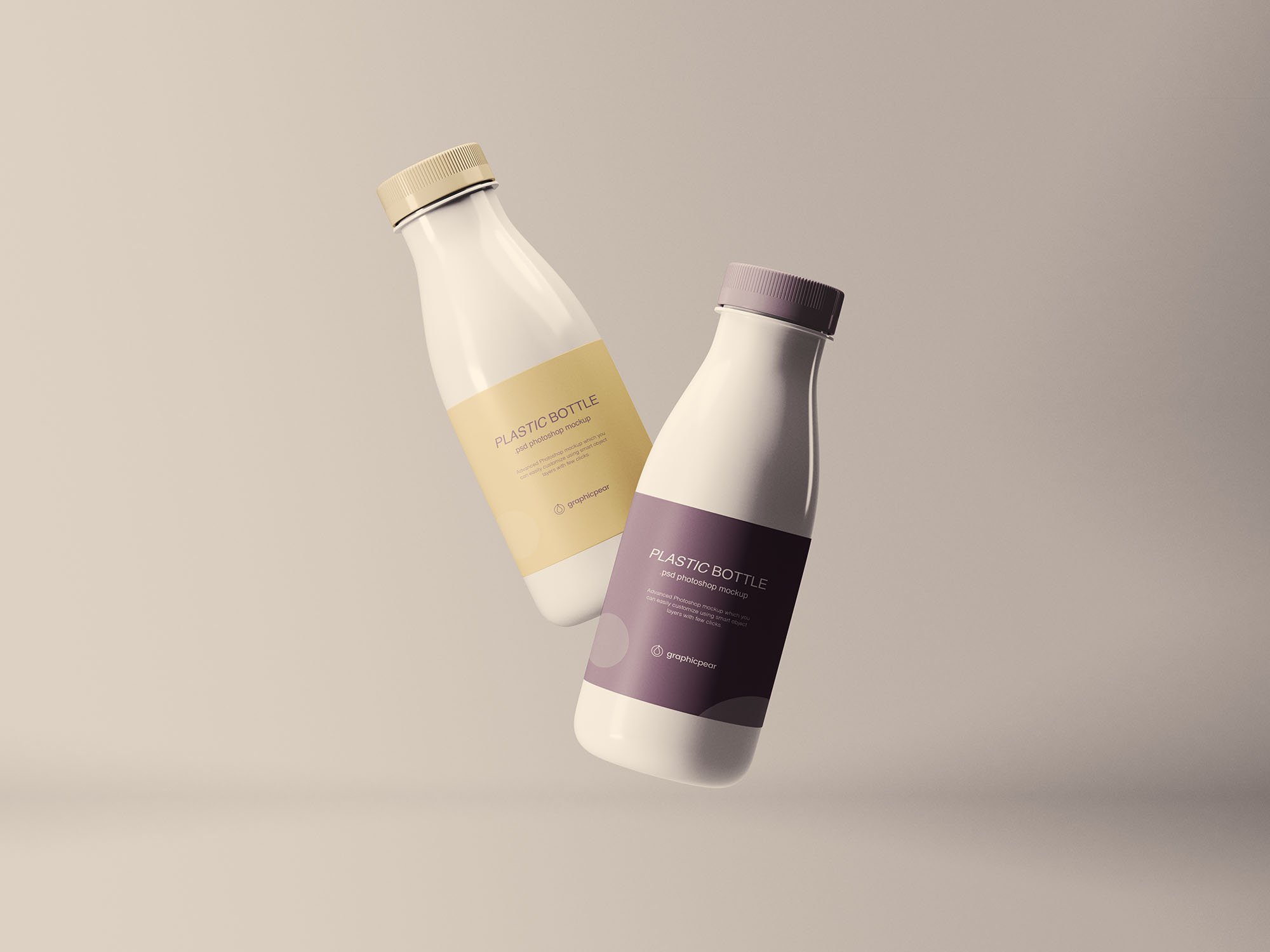 Floating Plastic Bottles Free Mockup