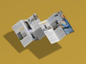 Free Brand Front Back Tri-Fold Brochure Mockup