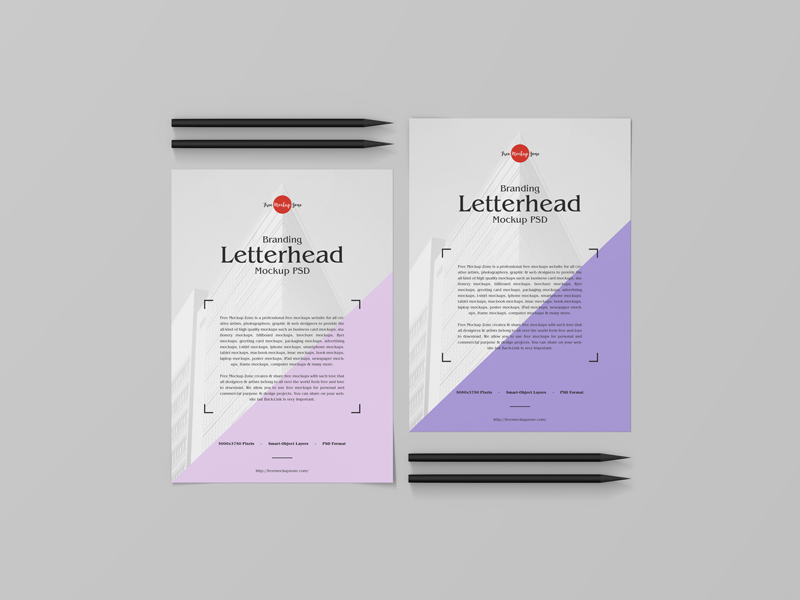 Free Branding Letterhead Mockup