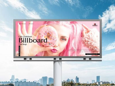 Free City Outdoor Billboard Mockup For Advertisement