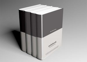 Free Standing Hard Cover Book Mockup