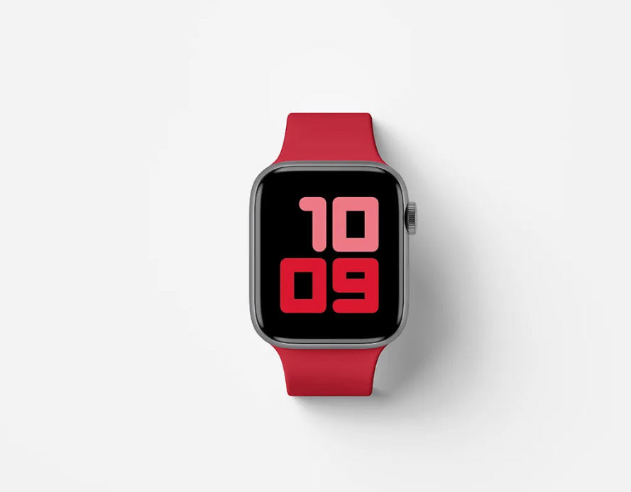 Free Top View Apple Watch Series 5 Mockup