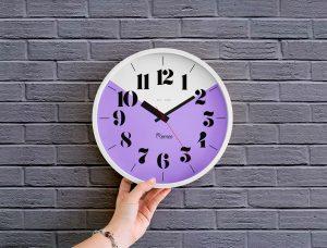 Free Wall Clock Mockup
