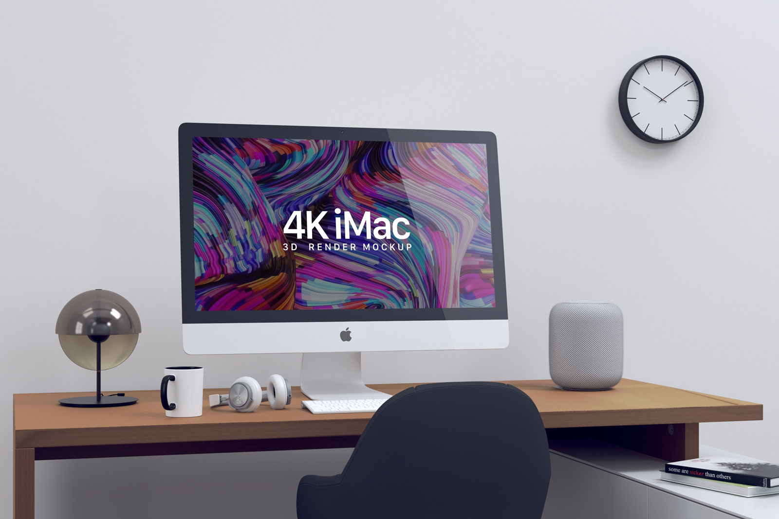Free iMac Screen Website Mockup