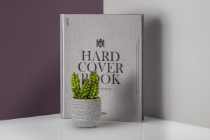 Hardcover Book Catalog Free PSD Mockup