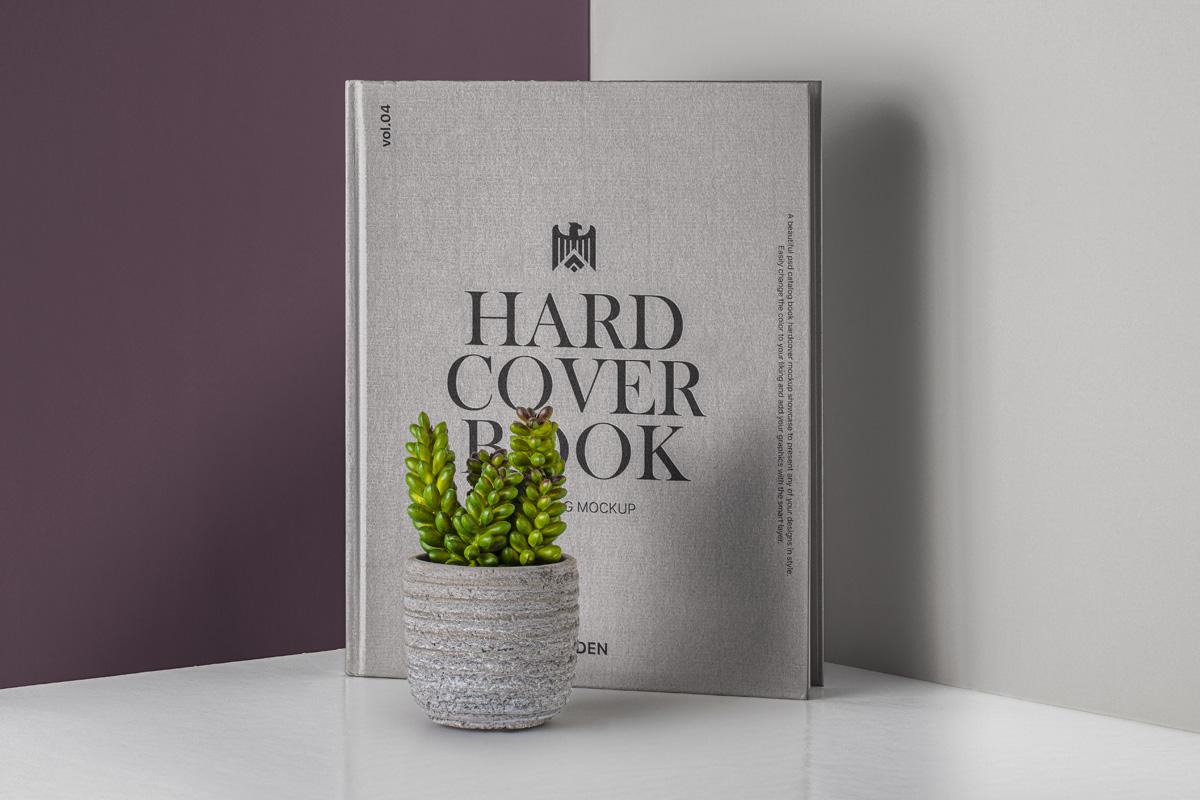 Hardcover Book Catalog Free PSD Mockup