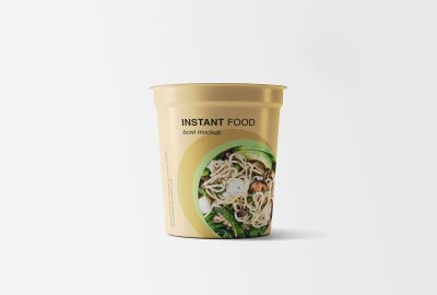 Instant Food Bowl Free Mockup