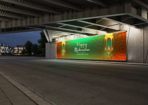 Roadside Billboard Free PSD Mockup