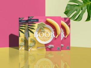 Square Book Mockup For Title Branding