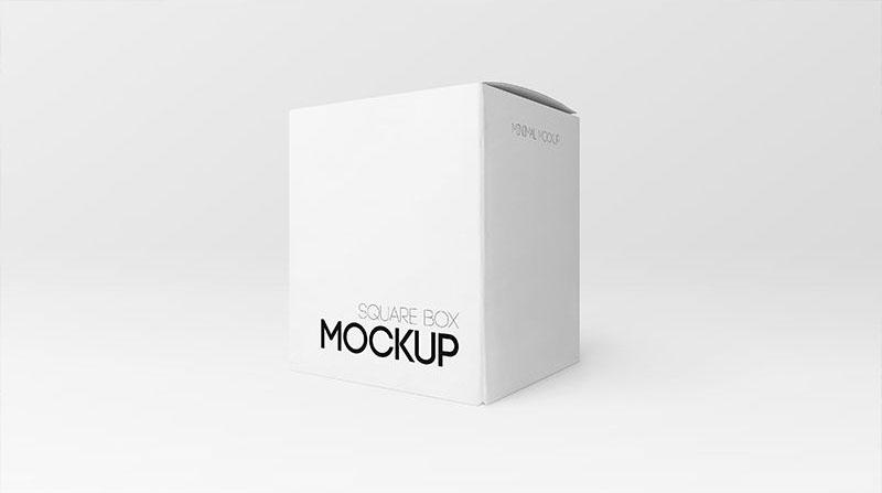 Square Box Free PSD Mockup