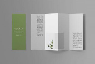 Vertical Foldable Brochure Free PSD Mockup