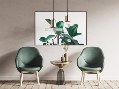 Armchairs and Poster Free Mock-ups