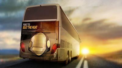 Bus Design - Free PSD Mockup