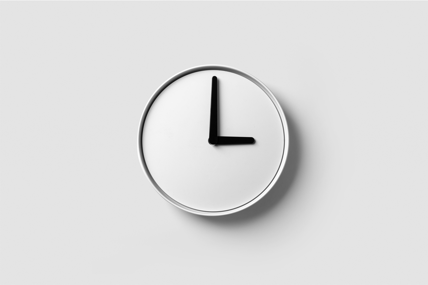 Circle Wall Clock - Free PSD Mockup