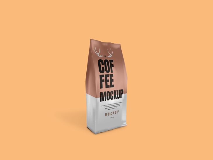 Coffee Bag Packaging - Free PSD Mockup