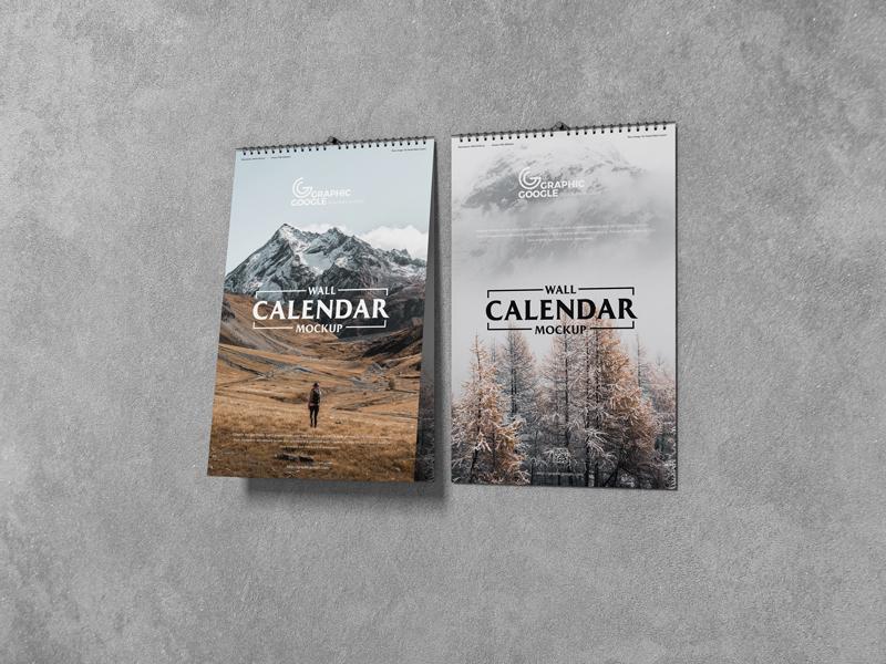 Free PSD Wall Calendar Mockup