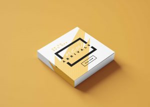 Free White Small Box Mockup