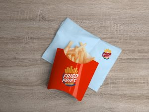 French Fries Packaging Free PSD Mockup