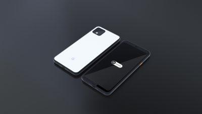 Google Pixel 4 XL - Free PSD Mockup