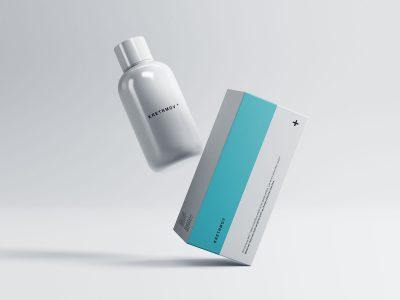 Medical Packaging Free PSD Mockup