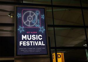 Musical Poster Free Mockup