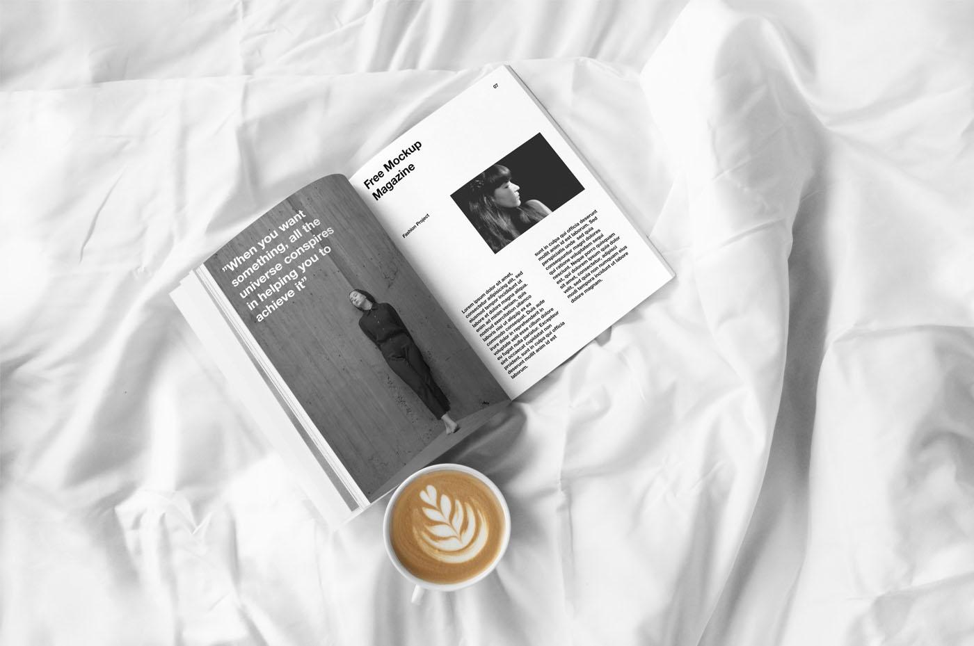 Open Magazine - Free PSD Mockup