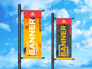 Outdoor Banner – Free PSD Mockup For Branding