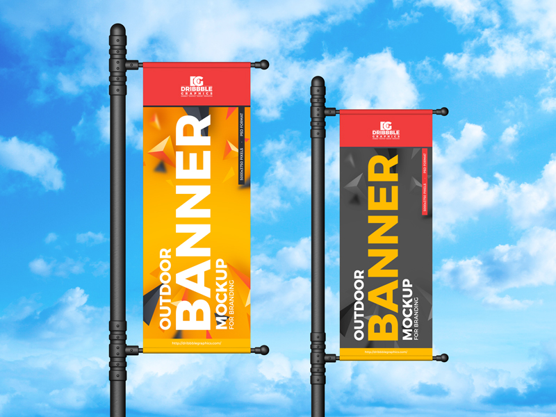 Outdoor Banner - Free PSD Mockup For Branding