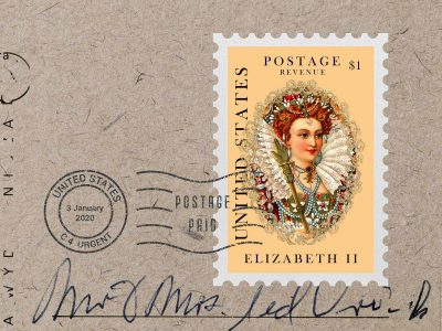 Postage Stamp - Free PSD Mockup