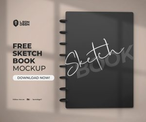 SketchBook Mockup Free PSD Template