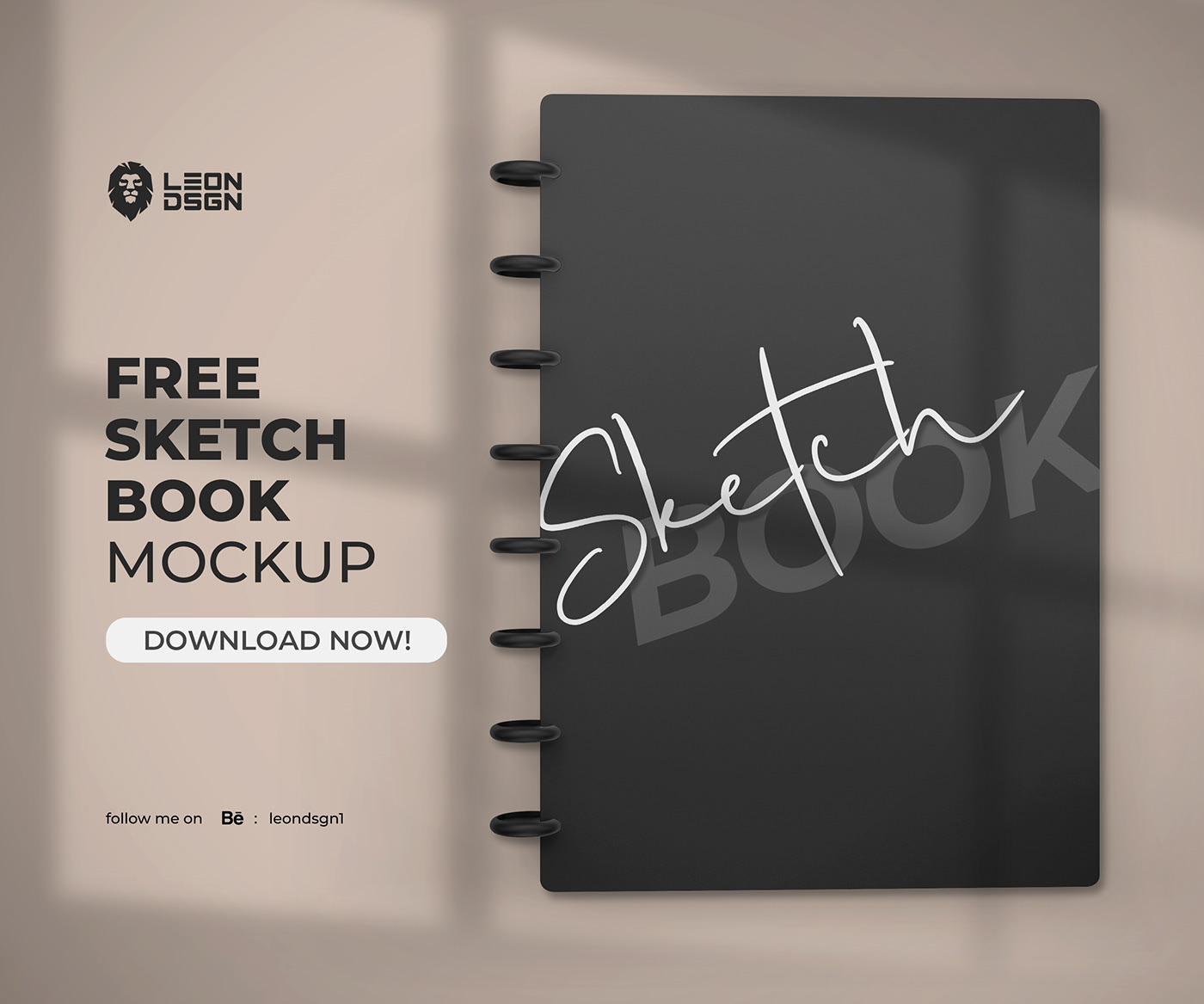 SketchBook Mockup Free PSD Template