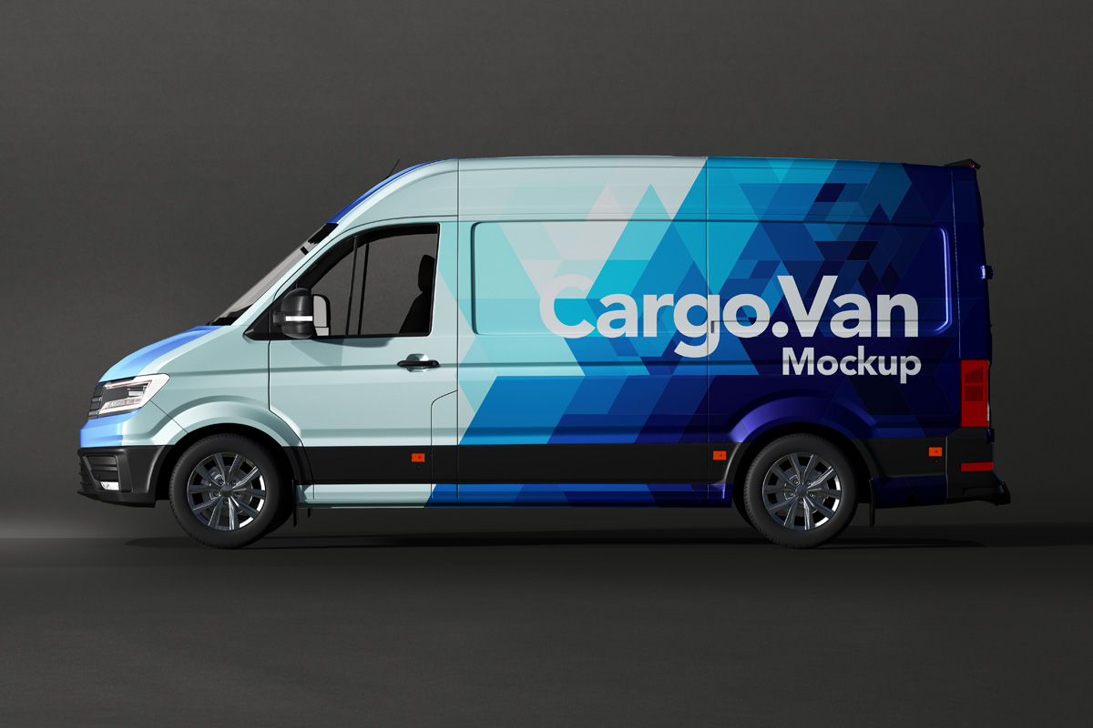 Vinyl Van Wrapping - Free PSD Mockup