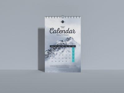 Wall Calendar 2020 - Free PSD Mockup