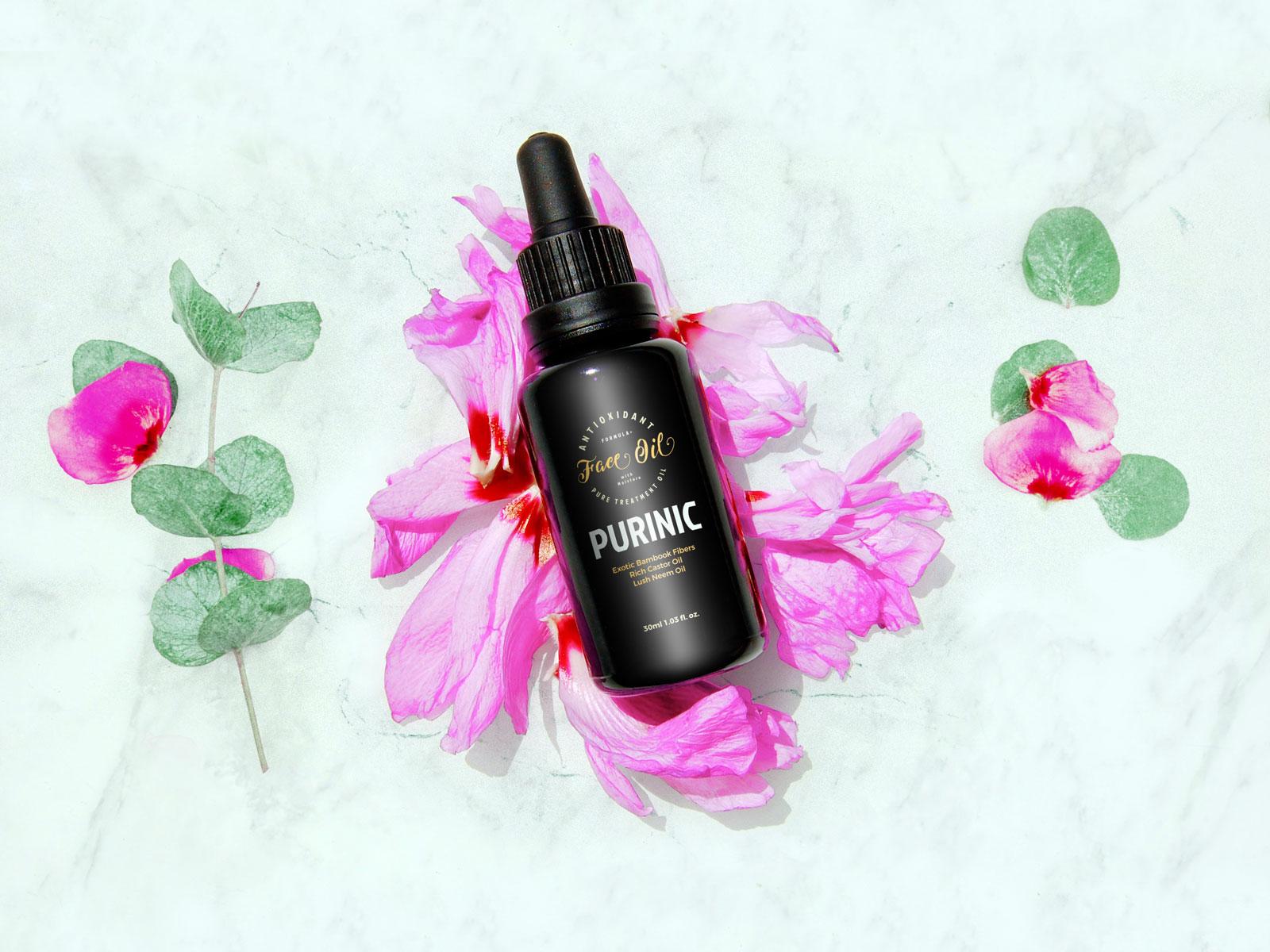 Antioxidant Facial Free Oil Bottle Mockup