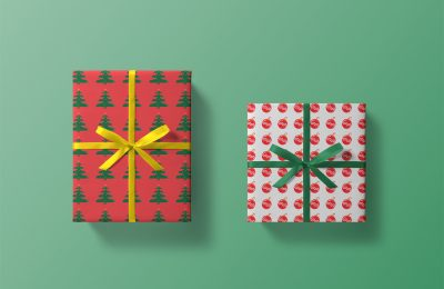 Christmas Box - Free PSD Mock-ups